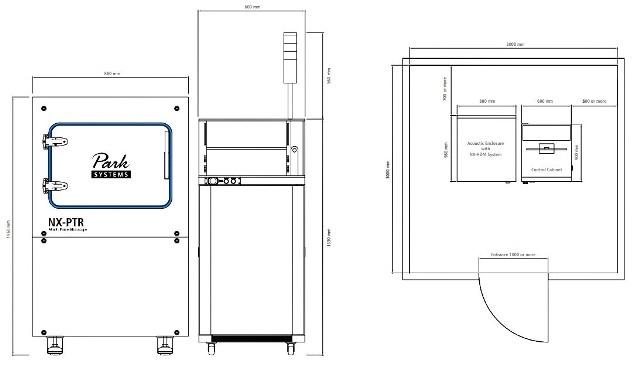 [ Park NX-PTR system dimension ] / [ Park NX-PTR installation layout ]