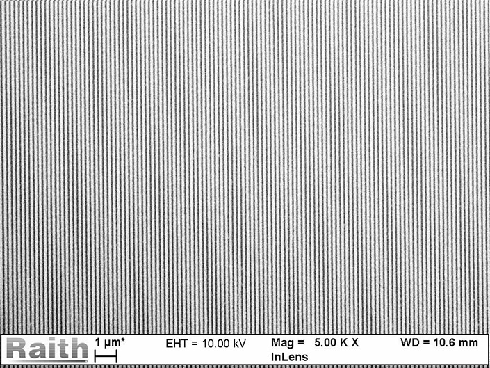 1x1 cm² grating in ZEP520a in less than two hours