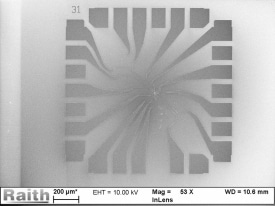 Automatic switch between high throughput and high resolution mode (160 µm at 40 nA and 10 nm at 0.4 nA)