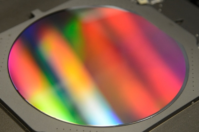 "A 6"" full area nanoimprinted wafer, processed by EVG NIL solutions."