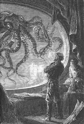 Nemo looking out through window of Nautilus.