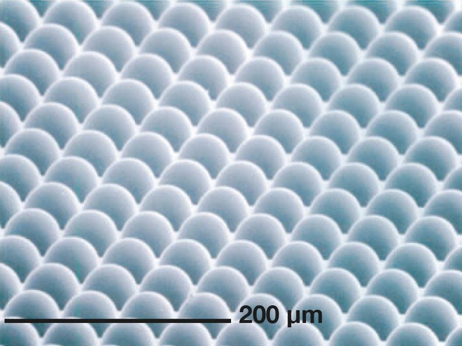Wafer-level micro lens arrays created utilizing UV-NIL.