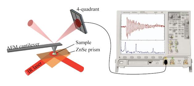 Schematic of AFMIR technique