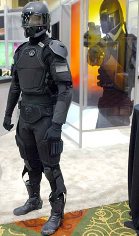 Concept demonstration for futuristic armour incorporating nano-enhanced technologies.
