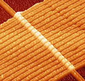 In 2008, HP Labs announced the first memristor array fabricated from nanoscale titanium dioxide films.