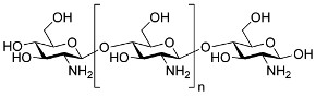 Chemical structure of chitosan.