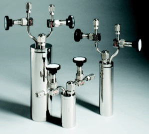 Electropolished stainless steel bubblers.
