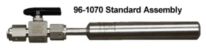 Stainless steel standard assembly.