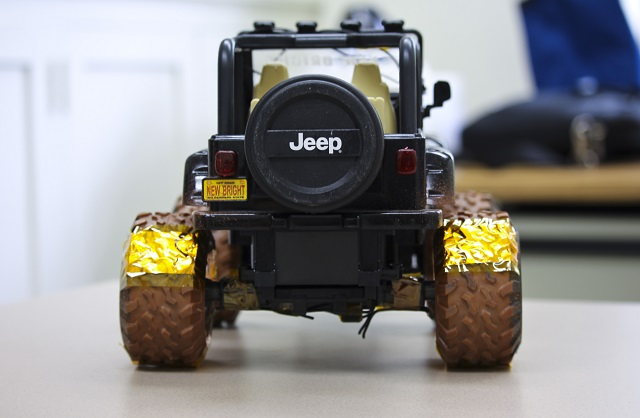 Wang and his colleagues used a toy car during initial trials.
