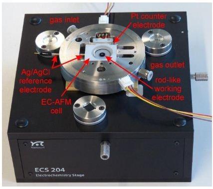 ECS 204 with mounted rod-like electrode