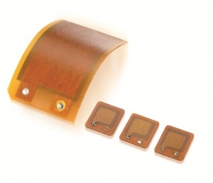 Different sizes of DuraAct flexible patch transducers. (Image: PI Ceramic)