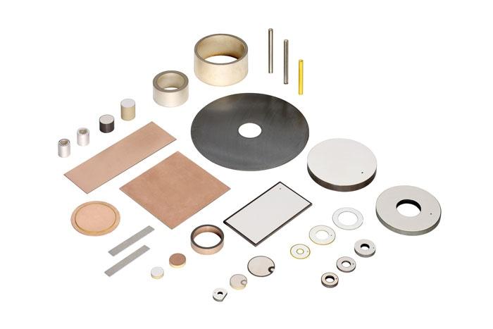 Variety of piezo ceramic transducer disks, rings benders and tubes. (Image: PI)