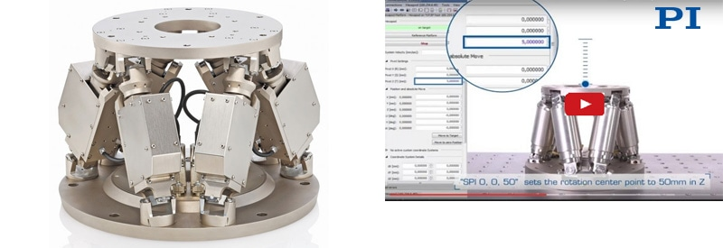 Vacuum compatible hexapod 6-axis positioning system (Image PI)