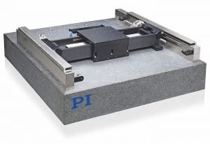 PIglide HS, standard planar air-bearing XY-Yaw linear motor stage for high-precision scanning and inspection applications. (Image: PI)