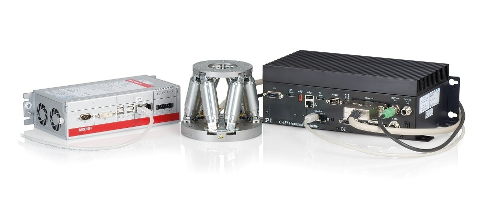 All functions of the PLC standard languages can be used for controlling the Hexapod systems – a proprietary language is not required. (Image: PI)