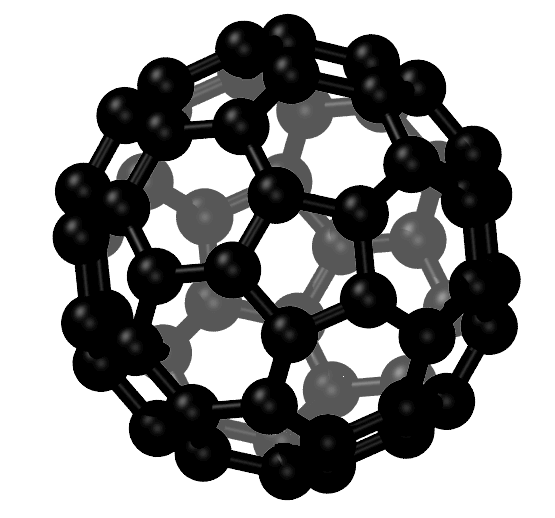 A Graphical Representation of a Carbon Fullerene With 60 Carbon Atoms