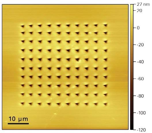 SPM image of silicon taken at 800 °C following XPM testing.