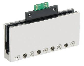 Flat PIMag® linear motor with three coils and u-shaped magnetic track
