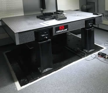 Customized Minus K Technology Negative-Stiffness vibration isolation table installed in one of the Ultra-Low Vibration Lab chambers.