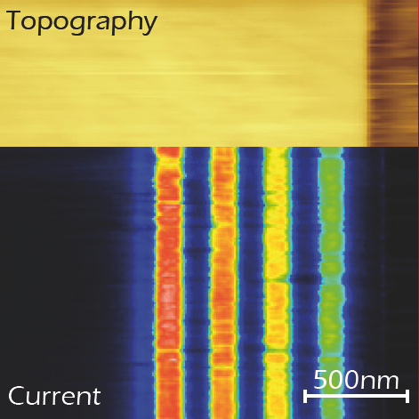 ResiScope mode Dopant profiling on clived Si 2 µm.