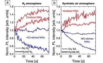 主要空气组分对氮化镓纳米结构效率的影响