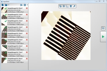Precise and Rapid 3D Stitching of Topographical Images Using topoStitch Software