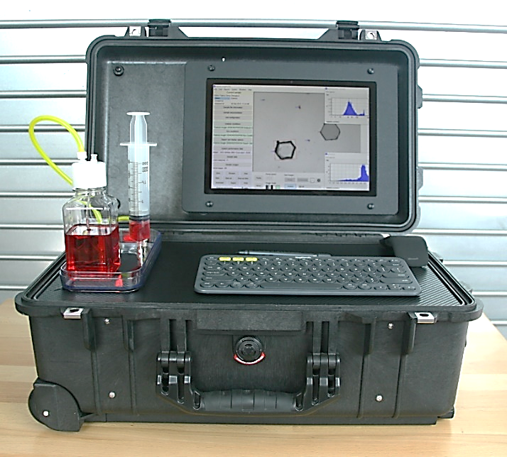 Pi Portable: Full Featured Particle Size and Shape Analyzer