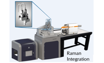 Simultaneous Raman Spectroscopy and Nanomechanical Testing from Hysitron