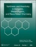 Synthesis and Reactivity in Inorganic, Metal-Organic, and Nano-Metal Chemistry: Taylor & Francis Publishing