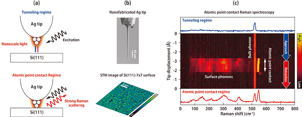 Atomic Point Contact Considerably Enhances Raman Scattering at Nanoscale