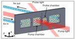 Novel Technology Produces Hyperpolarized Xenon Gas on a Microfluidic Chip