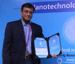 "Prof. Arindam Ghosh awarded ""Young Nanoscientist India Award 2015"""