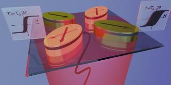 Hybrid Magnetic-Plasmonic Elements Facilitate Contactless, Selective Temperature Control in Magnetic Metamaterials