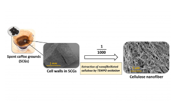 Cellulose Nanofibers from Coffee Grounds Could be Used to Make Bioplastics