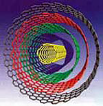 Graphic depicting a multi-wall carbon nanotube.