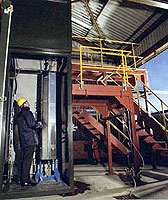 Photo showing the Swan nanotube plant in Consett, County Durham.