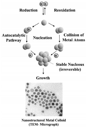 """Formation of nanostructured metal colloids by the """"salt reduction method"""""""