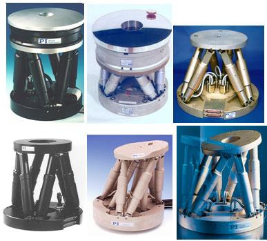 Different Variable Strut Length Hexapod 6-DoF Systems for Micro-Positioning and –Alignment.