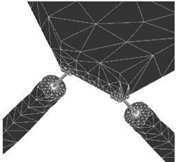 FEM - Model of the strut/flexure design.