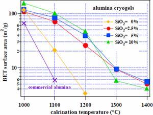 AZoNano - The A to Z of Nanotechnology - Surface area of alumina cryogel